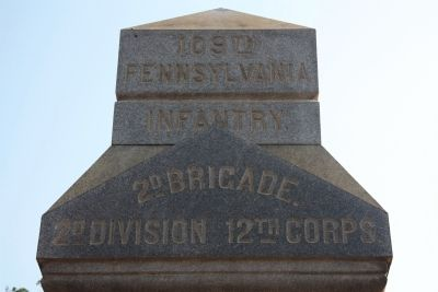 109th Pennsylvania Infantry. Marker image. Click for full size.
