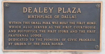 Dealey Plaza Marker image. Click for full size.