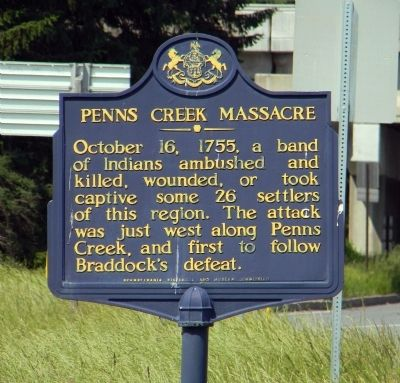Penns Creek Massacre Marker image. Click for full size.