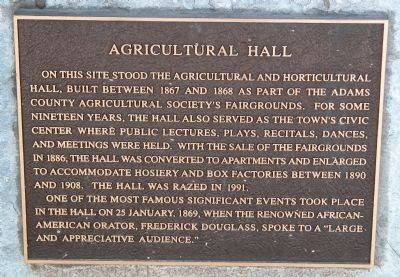 Agricultural Hall Marker image. Click for full size.