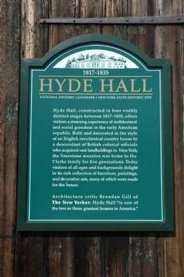Hyde Hall Marker image. Click for full size.