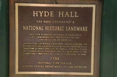 Hyde Hall - National Historic Landmark image. Click for full size.