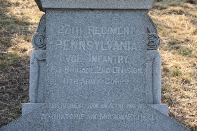 27th Regiment Pennsylvania Vol. Infantry. Marker image. Click for full size.