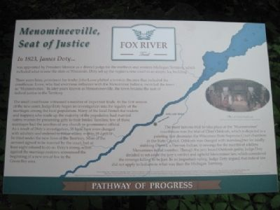 Menomineeville, Seat of Justice Marker image. Click for full size.