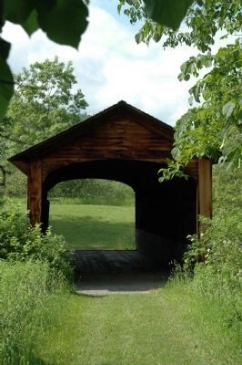 The Hyde Hall Covered Bridge image. Click for full size.