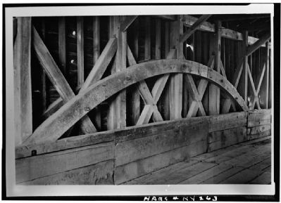 Detail of the Burr arch-truss which supports the bridge. image. Click for full size.