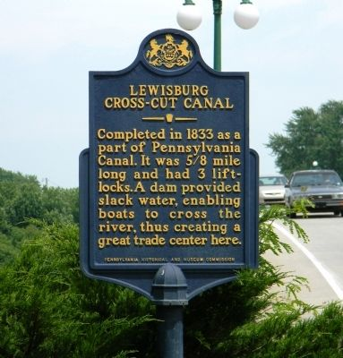 Lewisburg Cross-Cut Canal Marker image. Click for full size.