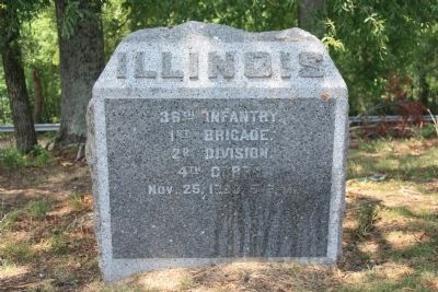 36th Illinois Marker image. Click for full size.