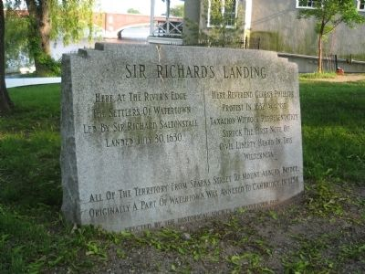 Sir Richard's Landing Marker image. Click for full size.