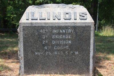 42nd Illinois Marker image. Click for full size.