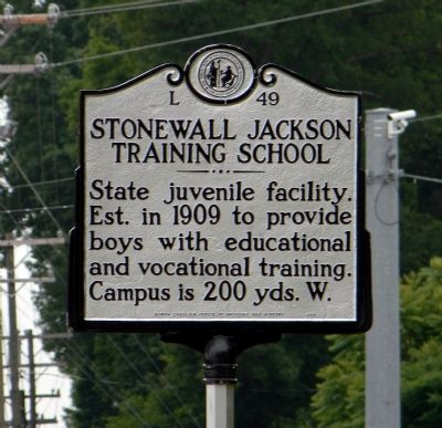 Stonewall Jackson Training School Marker image. Click for full size.
