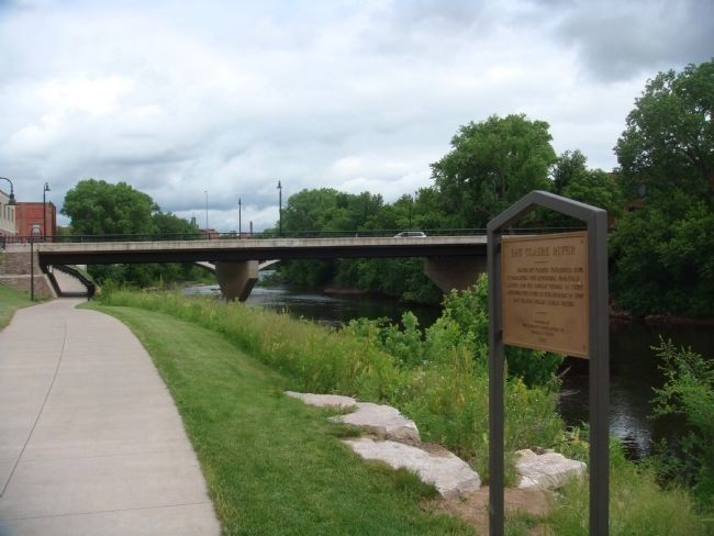 Eau Claire River Marker image. Click for full size.