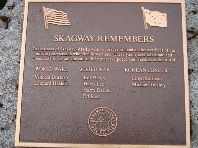 Skagway Remembers War Memorial Photo, Click for full size