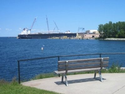 View of Bay Shipbuilding from the end of the point image. Click for full size.