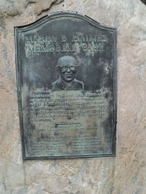 Harry B. Haines Memorial Park Marker image. Click for full size.