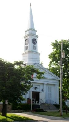 First Congregational Church and Marker Photo, Click for full size