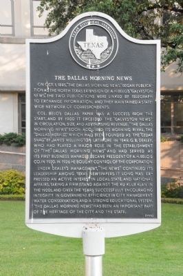 The Dallas Morning News Marker image. Click for full size.