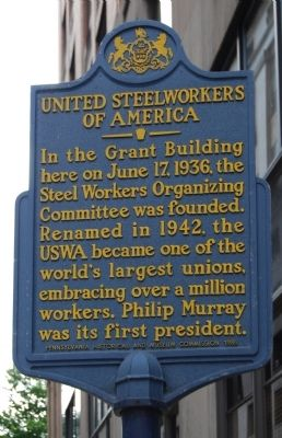 United Steelworkers of America Marker image. Click for full size.
