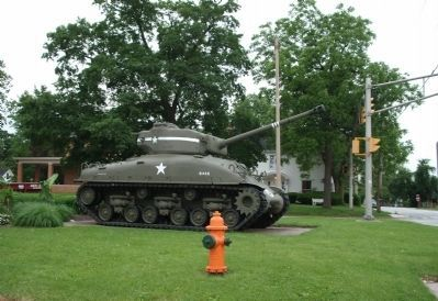 Looking West - - M-4 Sherman Tank image. Click for full size.