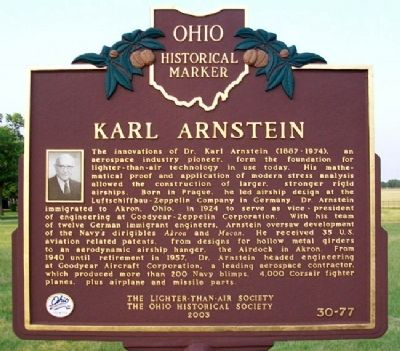Karl Arnstein Marker image. Click for full size.