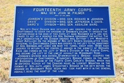 Fourteenth Army Corps. Marker image. Click for full size.