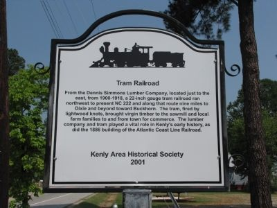 Tram Railroad Marker image. Click for full size.