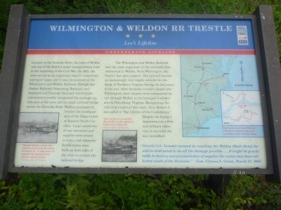 Wilmington & Weldon RR Trestle Marker image. Click for full size.