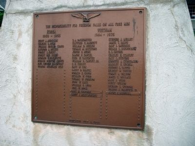 Left Side Plaque - - Hobart (Indiana) Patriotic Honor Rolls Marker Photo, Click for full size