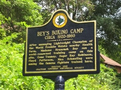 Bey's Boxing Camp Marker image. Click for full size.