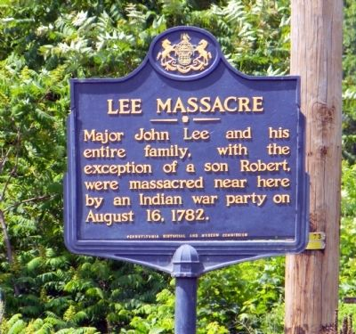 Lee Massacre Marker image. Click for full size.