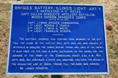 Bridges' Battery, Illinois Light Art'y. Marker image. Click for full size.