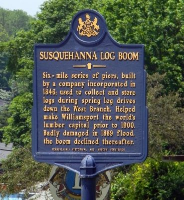 Susquehanna Log Boom Marker image. Click for full size.