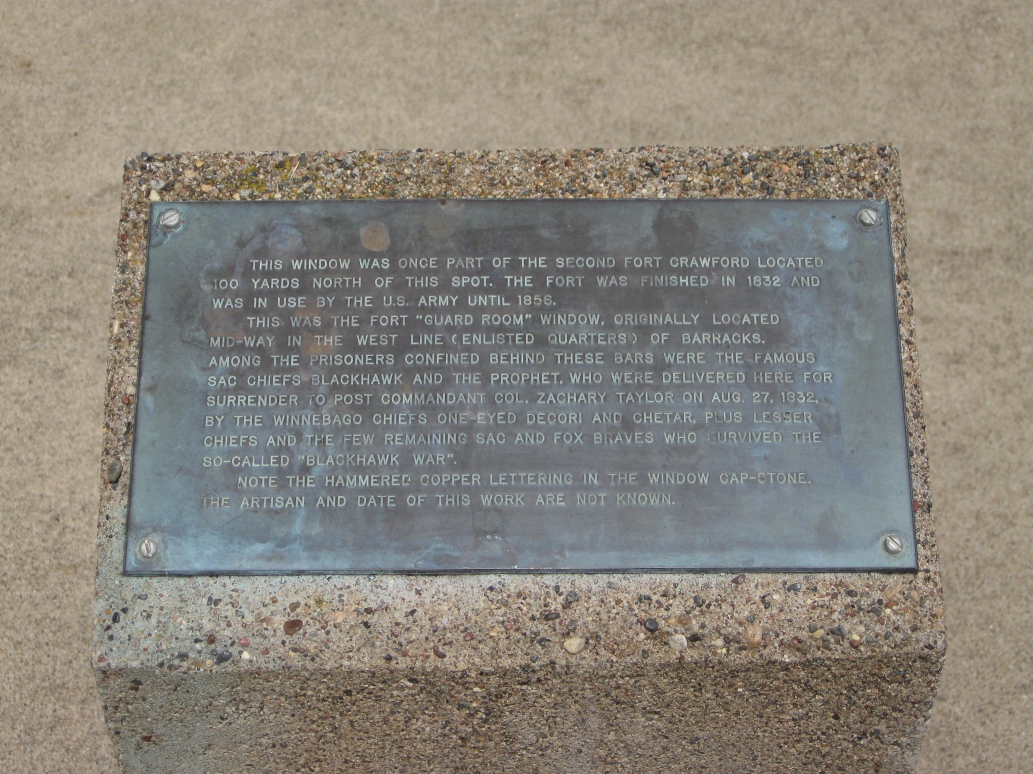 Plaque by Marker