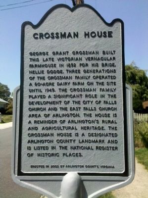 Crossman House Marker image. Click for full size.