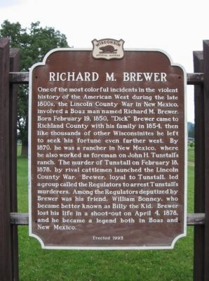 Richard M. Brewer Marker image. Click for full size.