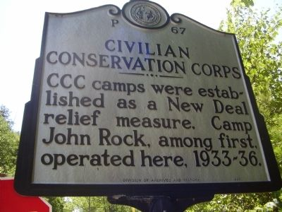 Civilan Conservation Corps Marker image. Click for full size.