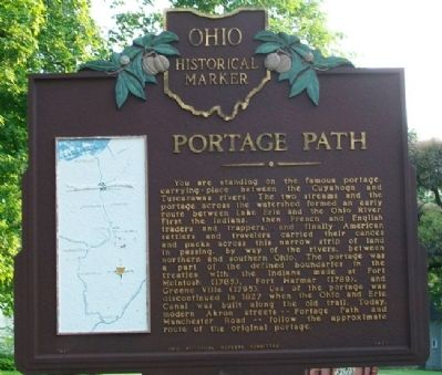 Portage Path Marker image. Click for full size.