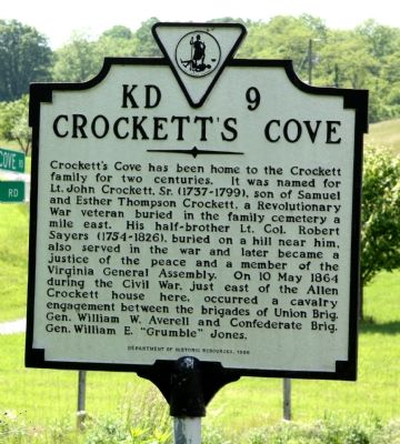 Crockett's Cove Marker image. Click for full size.