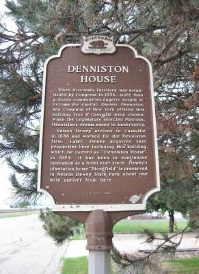 Denniston House Marker Photo, Click for full size