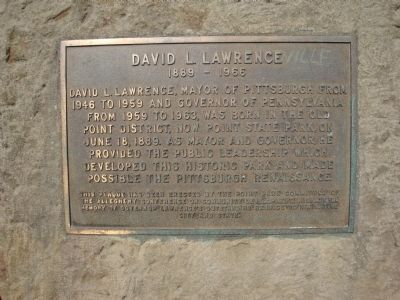 David L. Lawrence Marker image. Click for full size.