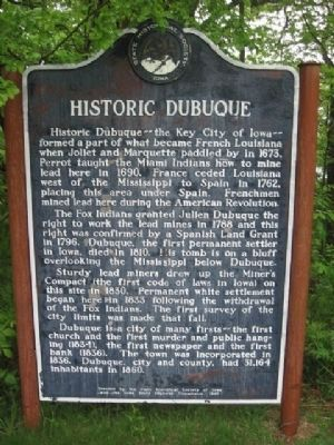 Historic Dubuque Marker image. Click for full size.