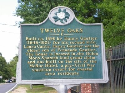 Twelve Oaks Marker Photo, Click for full size