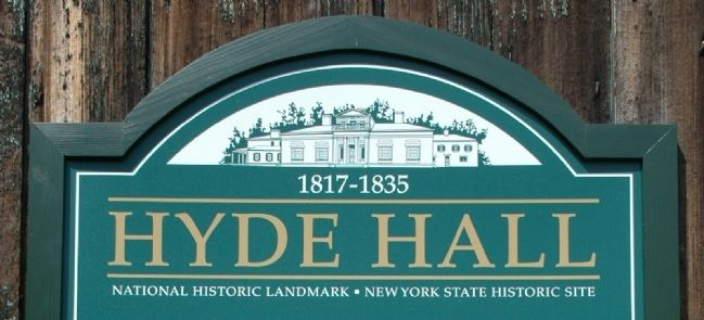 Hyde Hall Marker Detail image. Click for full size.