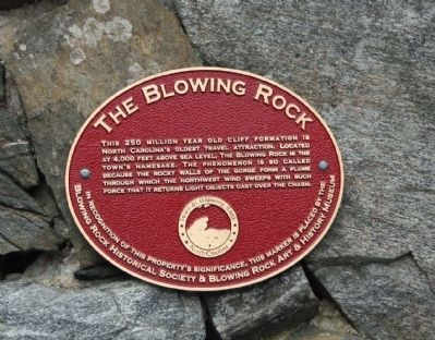 Blowing Rock Marker image. Click for full size.