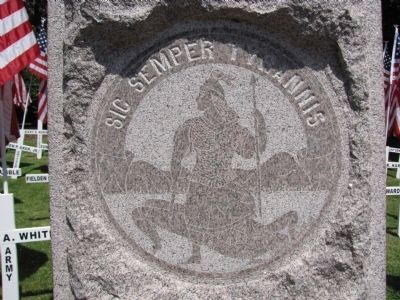 Confederate Memorial detail image. Click for full size.