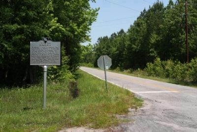Kingville Marker looking northwest Griffin Creek Road image. Click for full size.