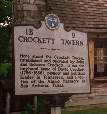 Crockett Tavern Marker Photo, Click for full size