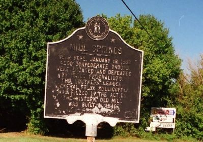 Mill Springs Marker image. Click for full size.