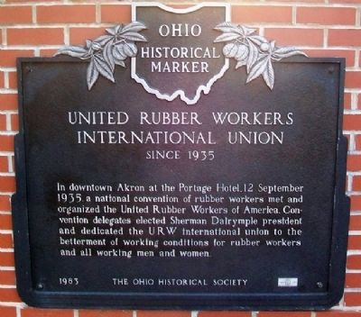 United Rubber Workers International Union Marker image. Click for full size.