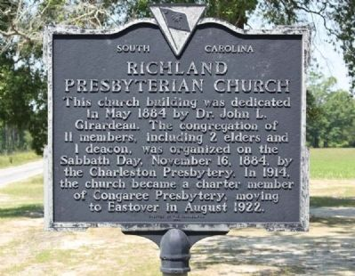 Richland Presbyterian Church Marker image. Click for full size.